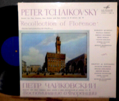 Tchaikovsky Recollection Of Florence Borodin Quartet Talalyan Rostropovich Lp