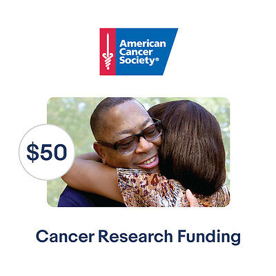 American Cancer Society $50 Breakthrough Research Symbolic Charitable Donation