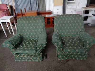 pair of easy chairs with removable covers