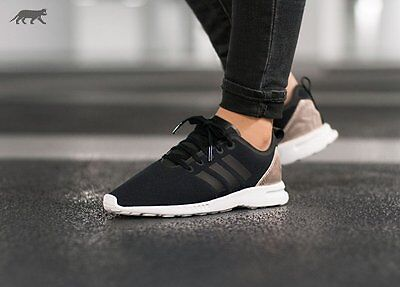 adidas Originals Womens ZX Flux ADV Smooth Trainers Core Black/Copper