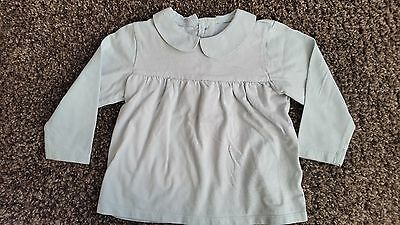 Marks and Spencer pale green collared top size 12 - 18 months
