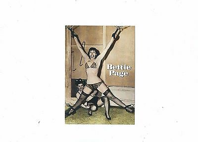 Risque Postcard Bettie Page Strecthed