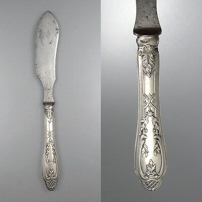 Antique FrenchNeoclassic Sterling Silver Butter Knife, Hallmark, Brosse & Cie