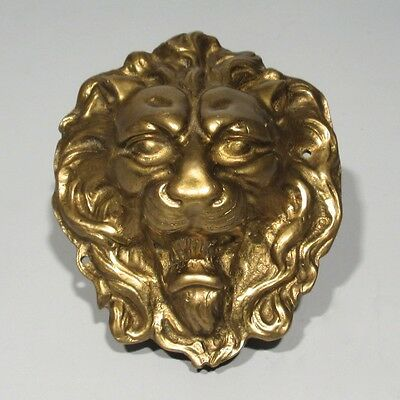 Vintage French Bronze Ornament, Lion's Head, Numbered, 5 1/2 x 4 5/8 Inches • CAD $251.71