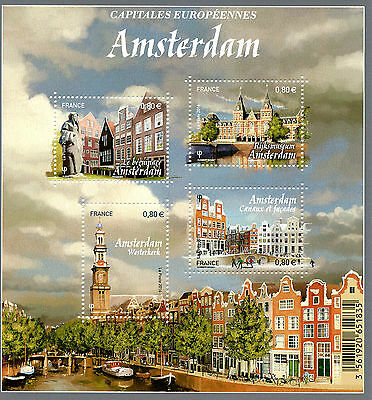 France 2016 MNH European Capitals Amsterdam 4v M/S Rijksmuseum Tourism Stamps