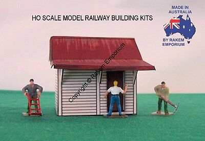 HO Scale Station Master Shed Building X 4  Model Railway Building Kit - HOSB4
