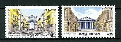 France 2016 MNH JIS Joint Issue Portugal 2v Set Buildings Architecture Stamps