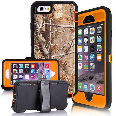 For iPhone 6 & 7 & 7 Plus Case Camouflage Realtree [Clip Fits Otterbox Defender]