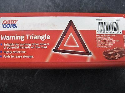 Autocare Road Warning Hazard Triangle Highly Reflective European Standard + Case