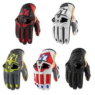 Icon Hypersport Pro Motorcycle Leather Short Cuff Riding Gloves
