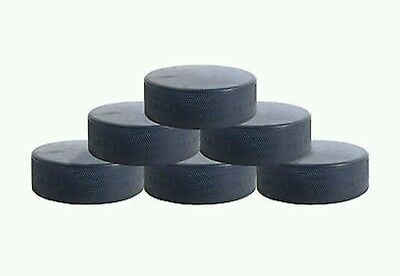 6x Official NHL Ice Hockey Pucks + FREE 1st Class Delivery