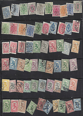 FINLAND - Early Collection, 1875-1921 60 Stamps  SCV $117.20 UH (U)