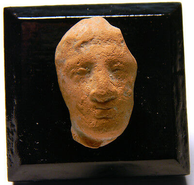 Greek Terracotta Head of a Man - Ancient Art & Antiquities