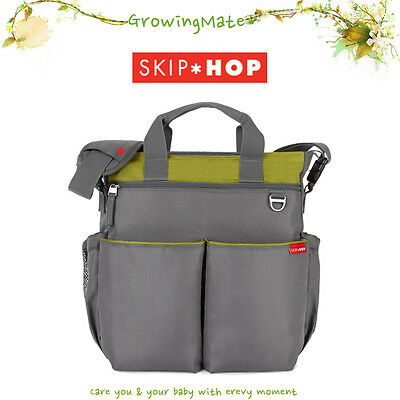 Skip Hop Duo Signature Nappy /Diaper Bag - With Change Pad - Lime