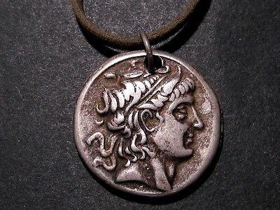 BEAUTIFUL NEW REPLICA OF A DEMETRIOS POLIORKET TETRADRAHM COIN w/ STRAP!!!