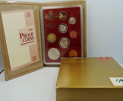 1988 Australia 8 Coin Proof Set With Original Package & Certificate