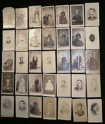 35 Mostly Civil War Era Cdv's Young Lad In Uniform, Other Very Interesting Picts