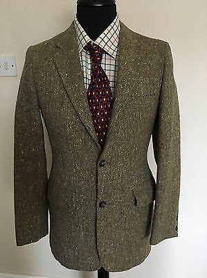 Men's Bespoke Vintage Donegal Tweed Fitted Blazer Vgc Country (S)