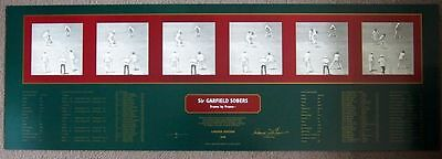 Sir Garfield Sobers Personally Signed Frame By Frame Limited Edition Print- Coa