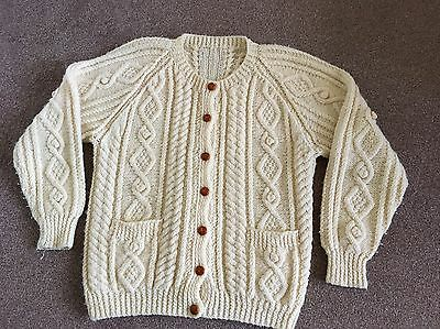 Vintage! Chunky Aran Cable Knit Cardigan Vgc Ladies Hand knitted