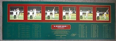 Sir Richard Hadlee Personally Signed Frame By Frame Limited Edition Print - Coa