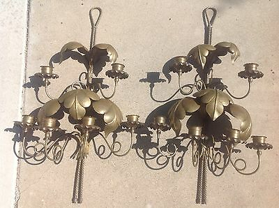 Beautiful Pair Of Copper Sconces Or Chandelier