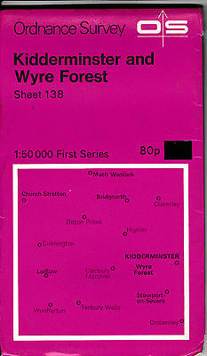 Ordnance Survey Landranger Map Sheet 138 Kidderminster & Wyre Forest 1974 OS