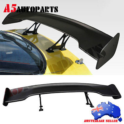 Universal GT Wing ABS BLACK 57 Inch JDM Black Trunk Spoiler Wing Adjustable