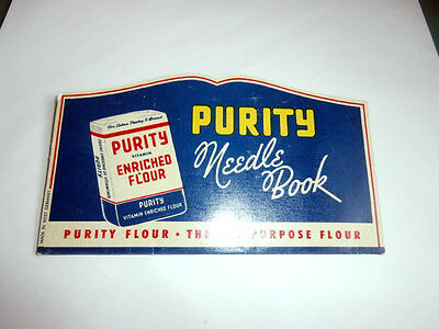 Vintage Purity Flour Oats Advertising Needle Book West Germany