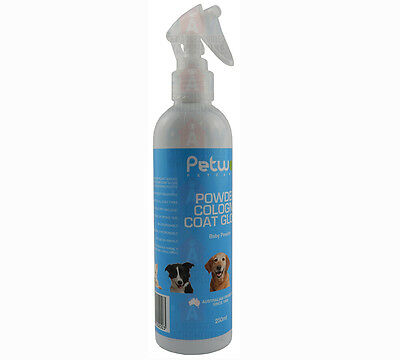 Petway Powder Cologne Coat Gloss 250ml Dogs Cats Puppies Kittens Fragrance