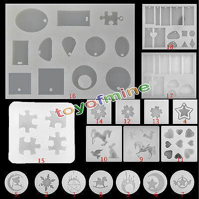 Silicone Molds DIY Pendant Resin Accessories Pendant Jewelry Making Tools