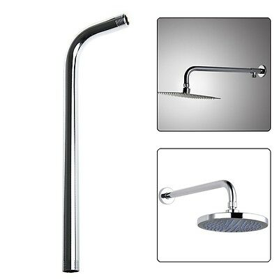 60CM Wall Shower Head Extension Pipe Long Stainless Steel Arm Bathroom Home New