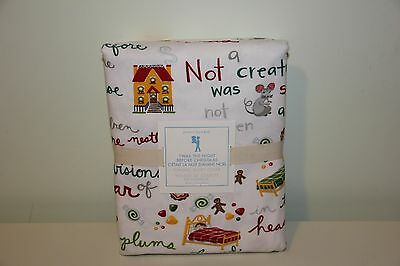 Pottery Barn Kids Twin DUVET TWAS THE NIGHT Flannel Christmas NWT SOLD OUT Santa