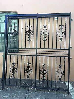 """Black Iron Security Double Door With Frame 75"""" W  X 87"""" H"""