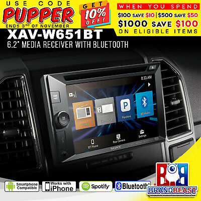 "Sony Xav-w651bt 6.2"" Double Din Bluetooth Radio  Direct Ipod Usb Aux Xavw651bt"