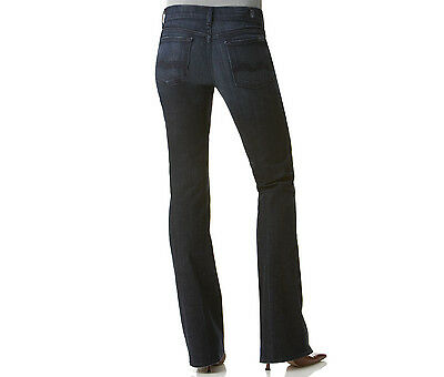 NWT WOMENS 7 FOR ALL MANKIND HIGH WAIST BOOTCUT DARK BLUE SIZE: 25x33 MSRP: $169