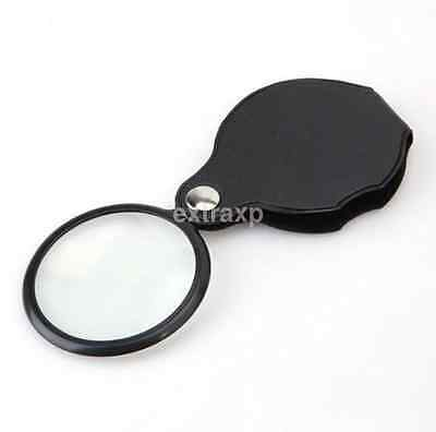 Mini Pocket 10X 50mm Folding Jewelry Magnifier Magnifying Eye Glass Loupe Lens