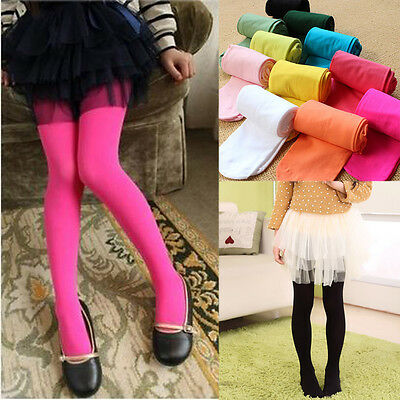 Girl Kids Colorful Stockings Tights Socks Pantyhose Ballet Dance Pants Age 3-12