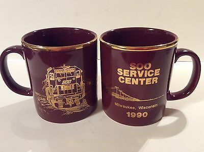 SOO LINE Coffee Mugs Set of 2 Milwaukee Service Center 1990 NEW