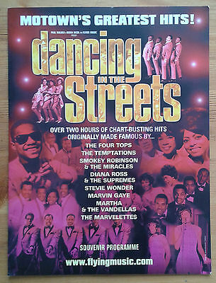 Signed Dancing in the Streets souvenir programme Cambridge Theatre 2005