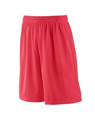 Augusta Sportswear MENS LONG TRICOT MESH SHORT/TRICOT LINED 3XL Red