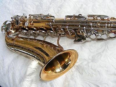 MADE IN FRANCE NOBLET PROFESSIONAL Eb ALTO SAXOPHONE , HEAR VIDEOS . NEW PADS .