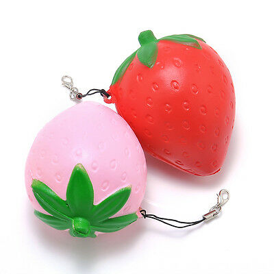 one 8CM Strawberry Squishy Candy Scented Slow Rising Phone Straps Toy hs