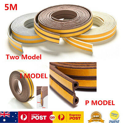 5M Self Adhesive Foam Weather Seal Draught Stopper Insulation Self Adhesive Tape