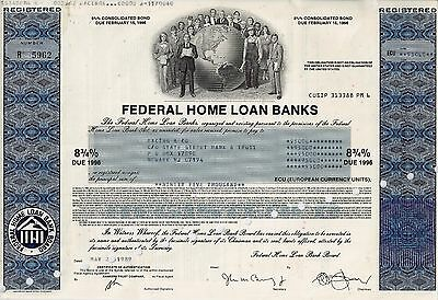 Federal Home Loan Banks, 1989, 8 3/4% Consolidated Bond due 1996 (95.000 ECU)