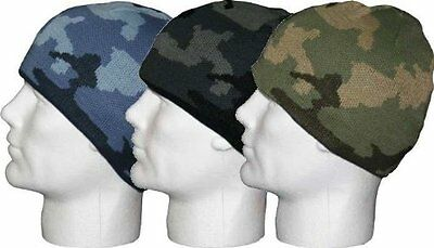 Kids Winter Camouflage Beanie Army Hat  One Size upto Age 12 Years (GL117)