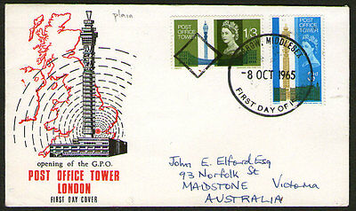 UK - 1965 - Post Office Tower - FDC - Addressed