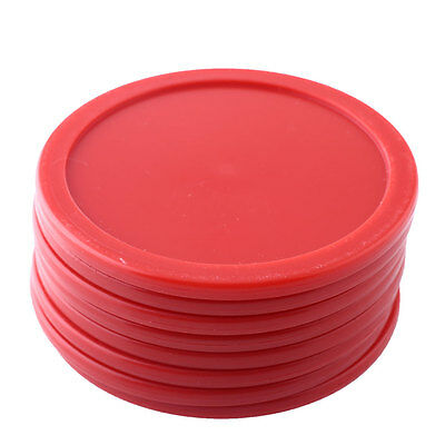 8Pcs 63mm Red ABS Air Hockey Children Table Pucks Mini Felt Mallet Goalies