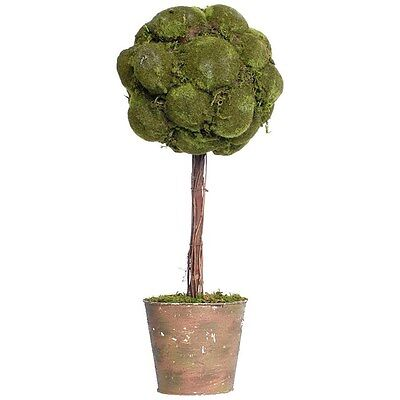 Silkroute AS58191 Moss Topiary In Clay Pot