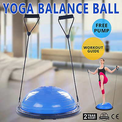 YOGA Palla Ball Pilates Bosu Balance trainer Resistenza Elastici Home Gym GREAT